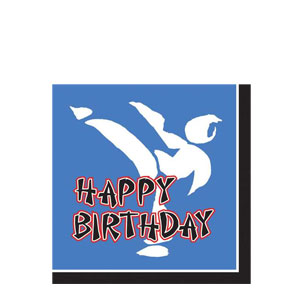 Black Belt Happy Birthday Napkins- 16ct