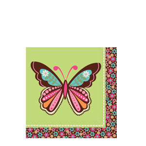 Hippie Chick Beverage Napkins- 16ct