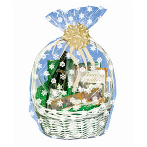 Snowflakes Basket Bag- 25 Inch