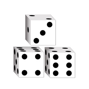 Dice-Shaped Party Favor Boxes