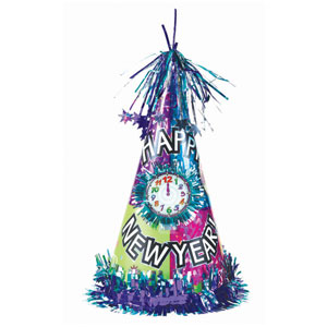 Light Up New Years Cone Hat- 13 Inch