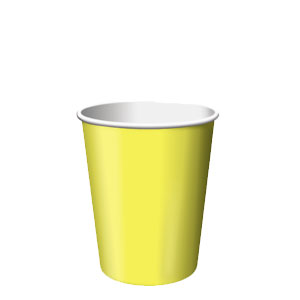 Mimosa Yellow 9 oz. Cups