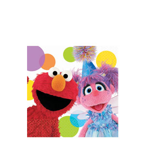 Sesame Street Party Beverage Napkins- 16ct
