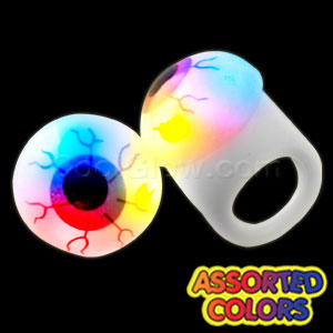 LED Jelly Eyeball Rings - Assorted