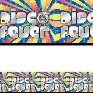 Disco Fever Banner Roll- 40ft