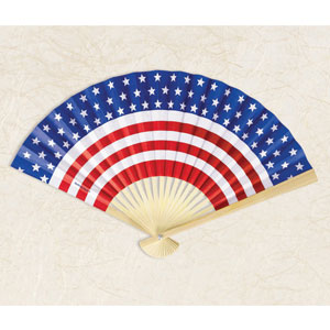 Patriotic Paper Fan- 12in