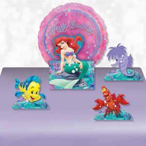 Disney Little Mermaid Balloon Centerpiece- 5pc