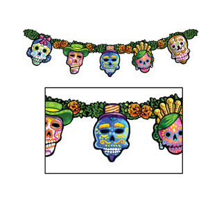 Day of the Dead Streamer - 4.5 ft
