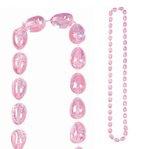 Easter Egg Bead Necklace - Pink