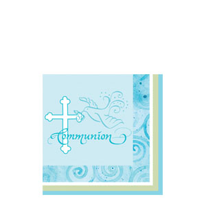 Communion Beverage Napkin - Blue