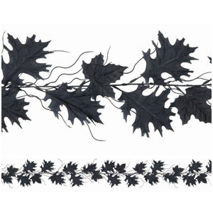 Black Leaf Garland- 9ft