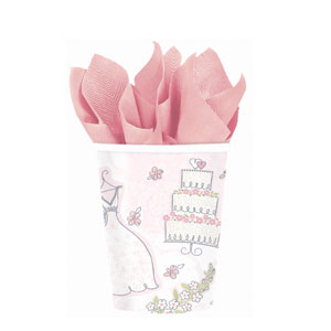 Sweet Romance 9 oz. Cups- 8ct