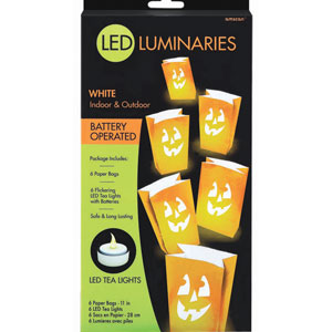 LED Halloween Luminaries - 6pc
