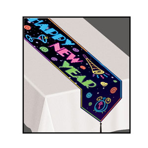 Neon Happy New Year Table Runner - 6ft