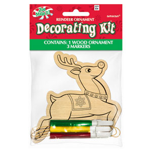 Reindeer Wood Ornament Kit- 4pc