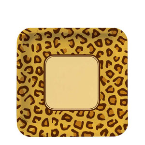 Leopard Print 9 Inch Plates- 8ct
