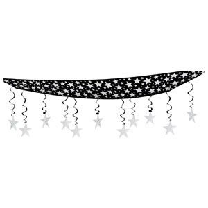 Star Ceiling Decor - Silver