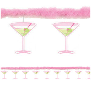 Martini Glass Garland