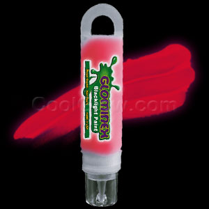 Glominex Blacklight UV Reactive Paint 1 oz Tube - Red