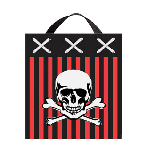 Pirate Fabric Treat Bag- 14in
