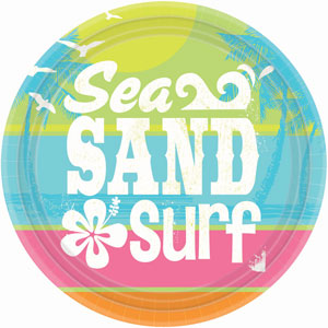 Summer Surf 10 Inch Plates- 8ct