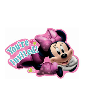 Disney Minnie Mouse Invitations- 8ct