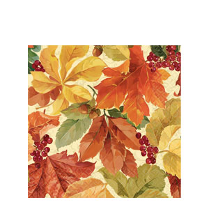 Elegant Leaves Luncheon Napkins