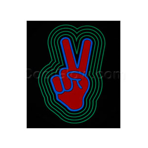 LED Sound Activated Patch - Peace Sign