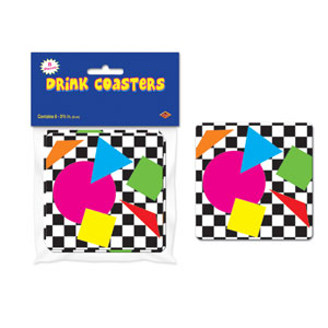 Party Shapes Coaster - 8ct