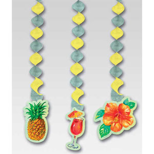 Pineapple Punch Dangling Cutouts- 3ct