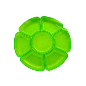 Neon 16 Inch Sectional Serving Tray - Green