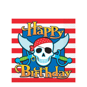 Pirate Party Luncheon Napkins- 16ct