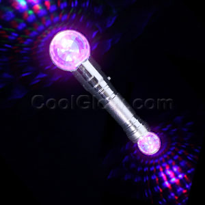 LED Dual Disco Ball Wand