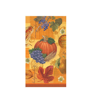 Thanksgiving Scrapbook Guest Towels- 16ct