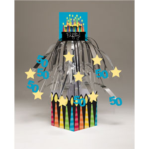 50 Candles Centerpiece - Mini-Foil