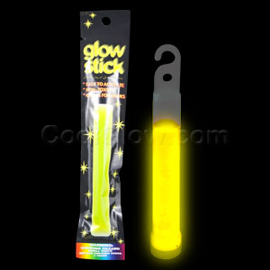 4 Inch Retail Packaged Glow Stick - Yellow