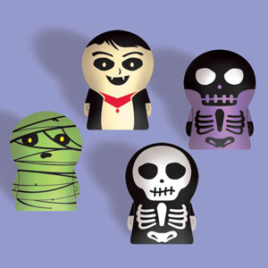 Skeleton Finger Puppet- 12ct