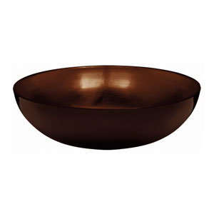 Elegant Fall Bowl- Brown 11 Inch