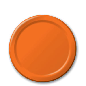 Sunkissed Orange 7 Inch Plates