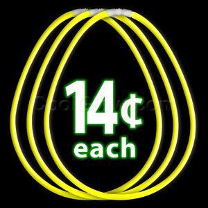22 Inch Glow Necklaces - Yellow