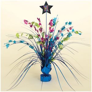 Happy New Year Spray Centerpiece- Multicolored 15 Inch