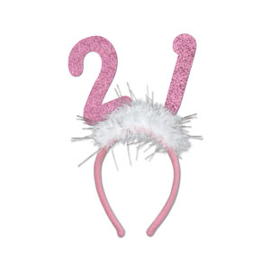 21 Glittered Boppers - Pink