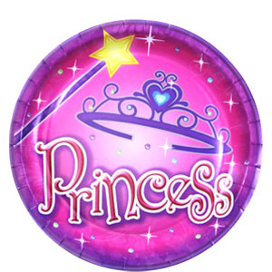 Princess Party 7 Inch Plates