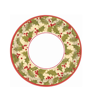Winter Holly 7 Inch Plates