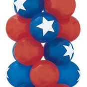 Star Top Latex Balloons - 12 Inch 50 Count