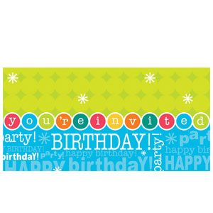 Time to Party Slim Invitation - 8ct
