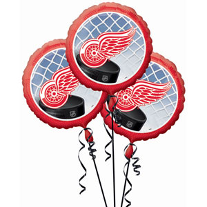 Detroit Red Wings 3 Pack Balloons- 18in