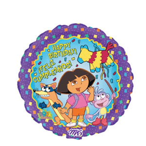 Dora Happy Birthday Feliz Cumpleanos Balloon- 18 Inch