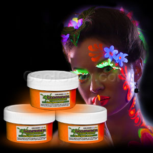 Glominex Glow Body Paint 2oz Jar - Orange