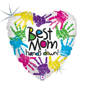 Best Mom Hands Down Balloon- 18in